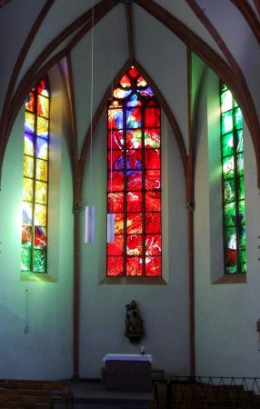 Stained Glass Windows In The Catholic Church Of St Martin Cochem