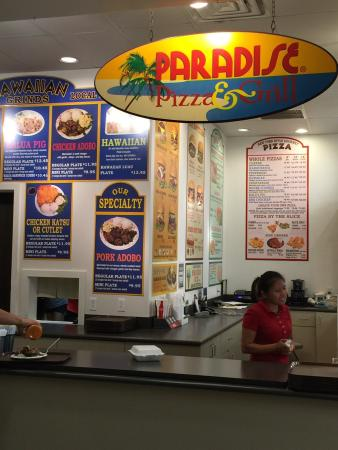 Paradise PIZZA & GRILL: If you must eat here, take a chance on the other choices...