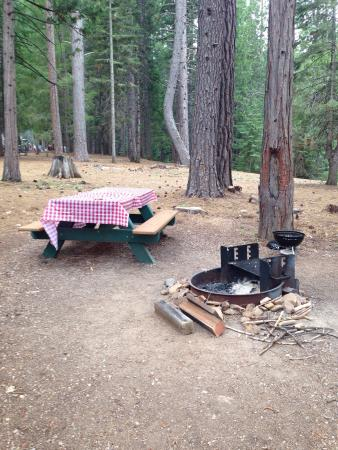Outdoor bbq area picture of lake siskiyou camp resort for Lake siskiyou resort cabins