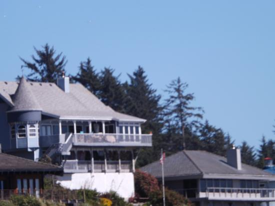 Harris Beach State Park House On Hill Above
