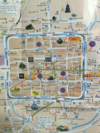 Map of Old City of Chiang Mai Picture of Ping Nakara Boutique