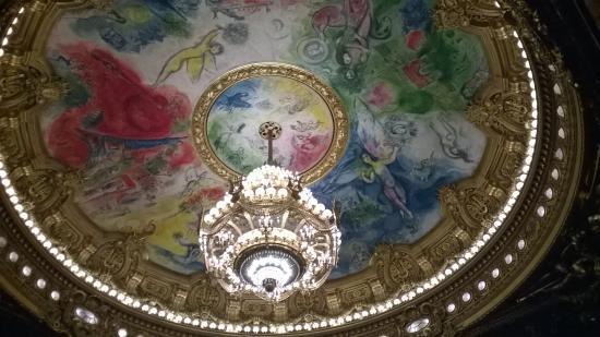Parijs, Frankrijk: detalhe do teto