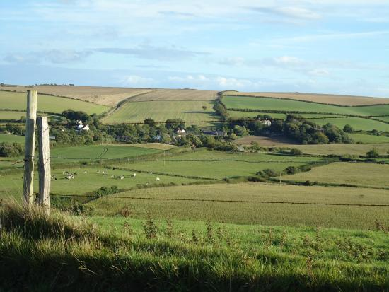 Holcombe Valley Holiday Cottages & B&B : VIEW ACROSS THE FIELDS