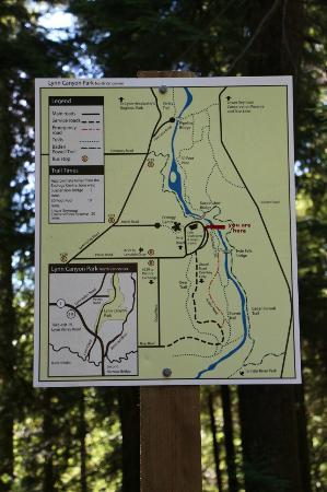 Lynn Canyon map Picture of Lynn Canyon Suspension Bridge North