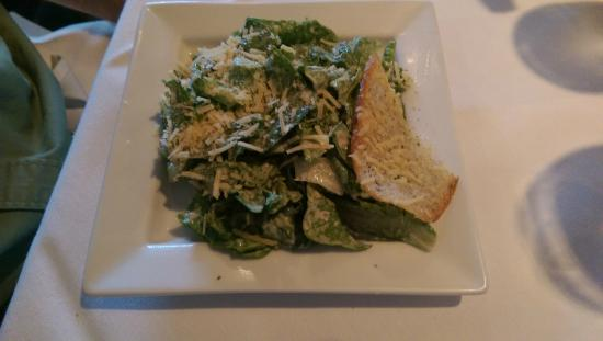 Nino's Italian Restaurant: Caesar salad - that is a parmesan crisp on the side