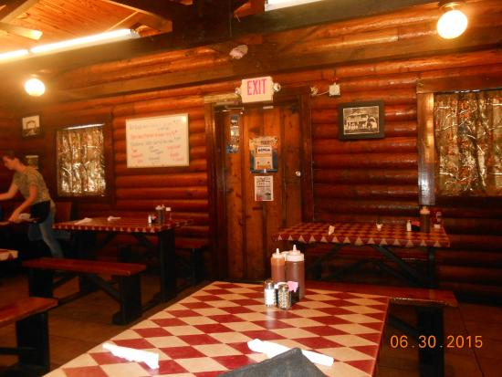 front door dine area - Picture of The Log Cabin, LaBelle - TripAdvisor