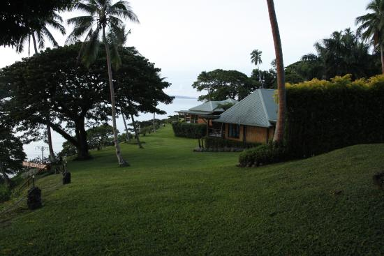 Nakia Resort & Dive: Looking down towards the 2-bedroom bure and the Kellys house.