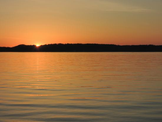 Bellaire, MI: Sunset on torch