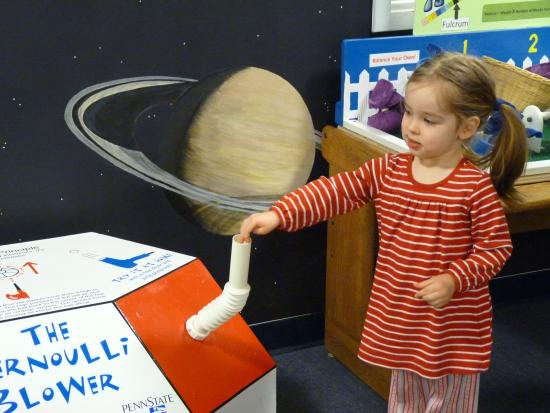 Bernoulli blower. - Picture of Discovery Space of Central ...