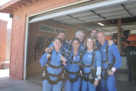 Skydive Perris: All geared up and ready to get in the plane