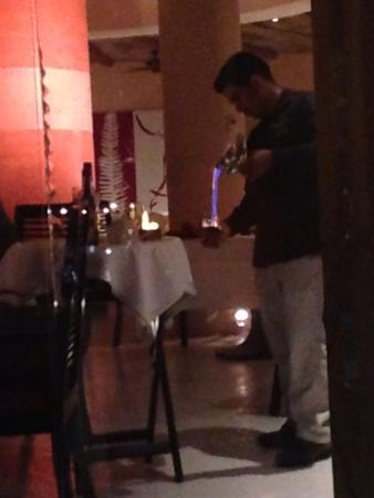Pueblo Bonito Pacifica Golf & Spa Resort: Making Mexican coffee at the table -Siempre