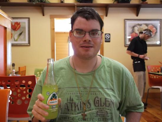 Galera Dos Mexican Restaurant Photo Of Me Kyle Schu Drinking Jarritos Lime Soda