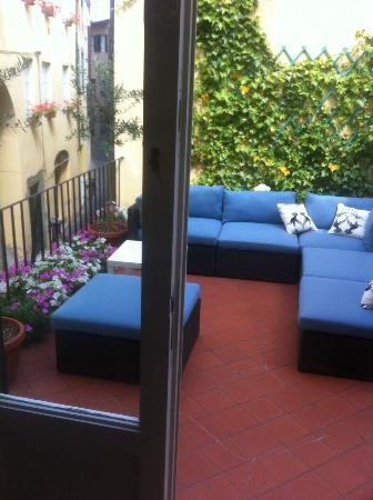 Bed & Breakfast Lucca in Centro: O terraço anexo ao nosso quarto