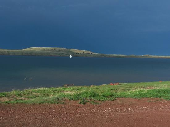Buffalo, WY: Lake DeSmet sailing in a storm