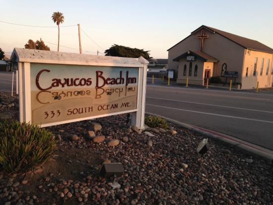 Cayucos Beach Inn Front Of The Hotel