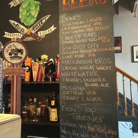 The Masonry : beer selection