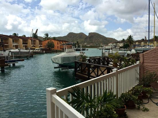 HBK Villas: Looking out from lovely new deck at #228B, Jolly Harbour, Antigua.