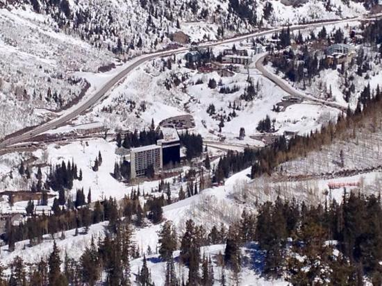 The Cliff Lodge & Spa : View of lodge from lift