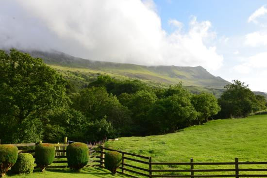 Tyddyn Mawr Farmhouse: The view from ground floor