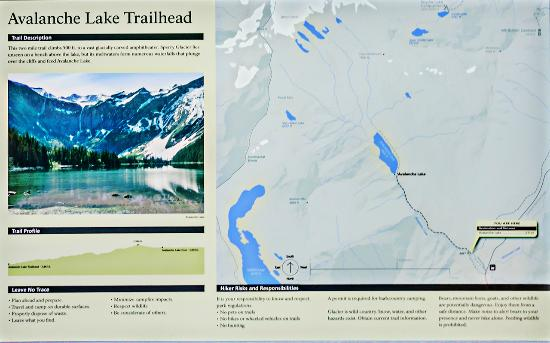Trail map - Picture of Avalanche Lake, Glacier National Park ... on crater lake trail map, giant sequoia national monument trail map, grand teton national park map, great smoky mountains trail map, big bend national park map, mount rainier national park map, kings canyon national park map, chickasaw national recreation area trail map, colorado national monument trail map, cuyamaca rancho state park trail map, great bear wilderness trail map, yellowstone national park map, big cypress national preserve trail map, san isabel national forest trail map, closest national park map, hot springs national park map, waterton lake trails map, mt. baker-snoqualmie national forest trail map, glacial river trail map, chief mountain trail map,