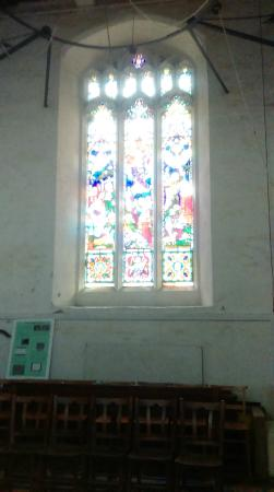 St Bene't's Church (Church of England): Stain glass