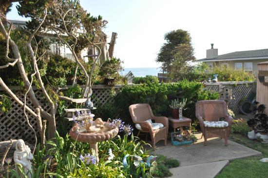 Garden at Seaside Motel in Cayucos,CA