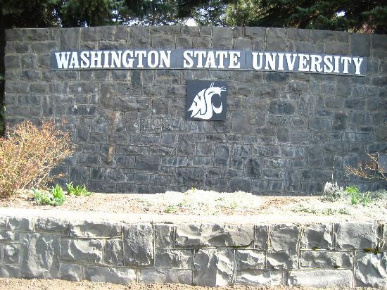 Washington State University: 大学の入り口にある看板