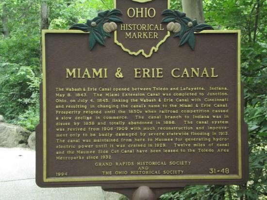 Grand Rapids, OH: Brief history of the canal.