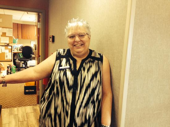 Hampton Inn & Suites Fort Worth-West/I-30: This woman will brighten your worst day.