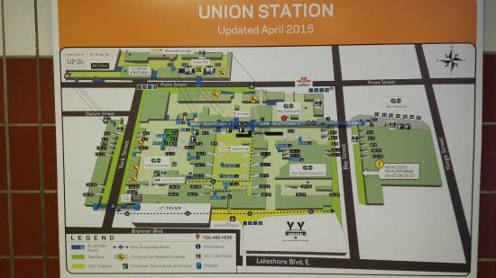 Union Station Toronto Map A Map of the New Extensively Renovated Union STATION   Picture of
