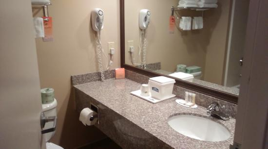 Howard Johnson Bethel: Great bathroom, definitely remodeled and bright!