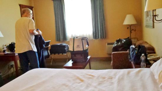 BEST WESTERN Merrimack Valley : King room was large enough for all of our bags and gear.