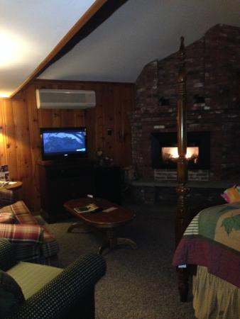 Christmas Farm Inn & Spa: inside the log cabin