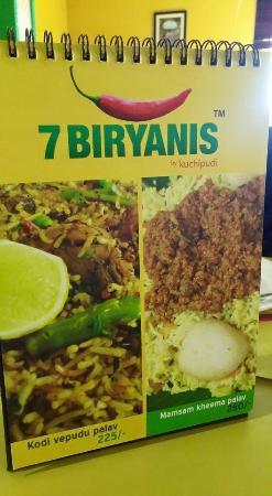 7 Biryanis by Kuchipudi