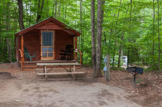 Large shady private site picture of adirondack camping for Camp sites with cabins