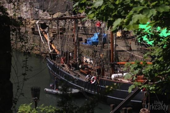 Dysart Harbour & Harbourmaster's House: Old ship used in the filming of Outlander at Dysart harbour