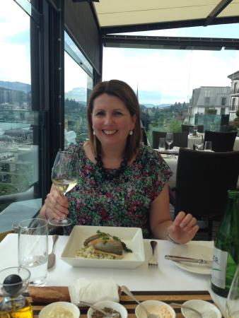 Art Deco Hotel Montana Luzern: Enjoying my birthday lunch!