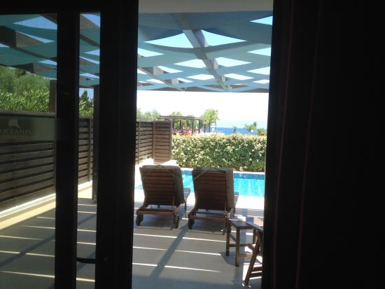 Ψαλίδι, Ελλάδα: Junior suite with sea view and private pool. Sun all day and private.