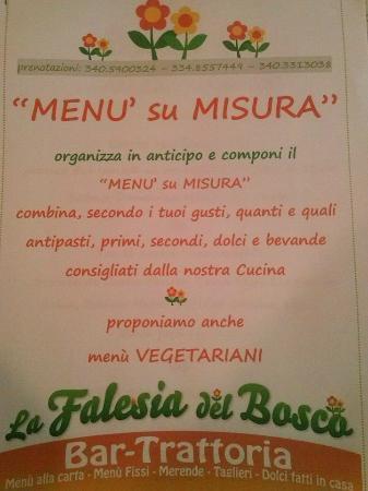 componi il tuo menù - picture of la falesia del bosco, locana ... - Componi Cucina