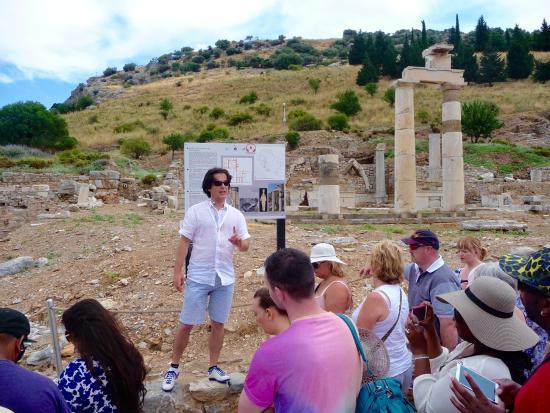 Best Ephesus Day Tours: Sukru/Sam guiding his followers