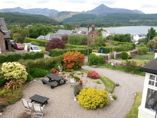 The Glenartney: View from room over garden