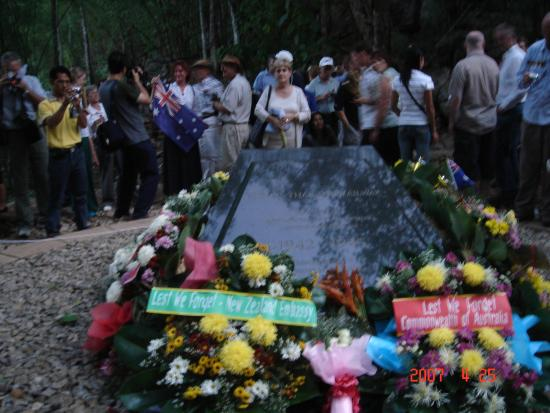 Thai-Burma Railway (Death Railway): Australians attending the ANZAC Day ceremony in Hellfire Pass
