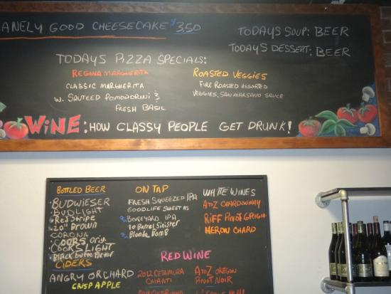 Pisano's Woodfired Pizza: Specials on Board....
