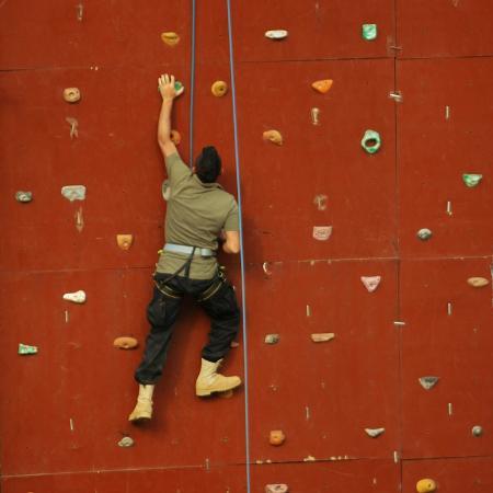 La Maison de la Foret: Wall Climbing