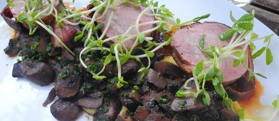 Sea and Smoke, an American Brasserie: Bacon Wrapped Pork Tenderloin