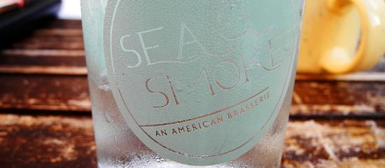 Sea and Smoke, an American Brasserie: Sea & Smoke, An American Brasserie Etched Water Glass