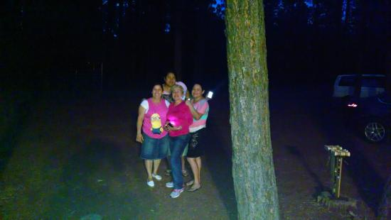 Enjoying the cool nights at buck springs resort
