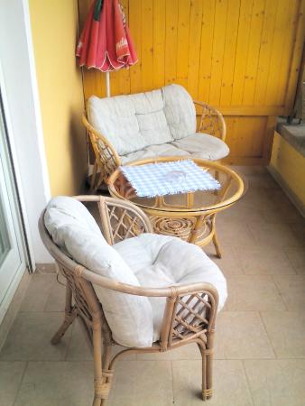 Pension Sedlak: chilliger Balkon