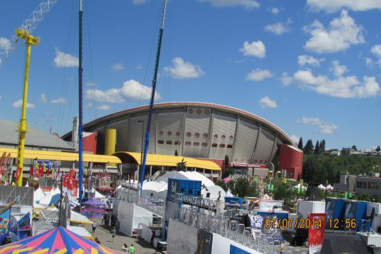 Calgary St&ede View from Sky Ride & Cowboys tent - Picture of Calgary Stampede Calgary - TripAdvisor