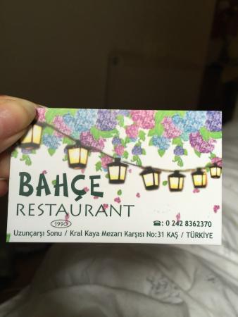 Bahce Restaurant : Beautiful Restaurant